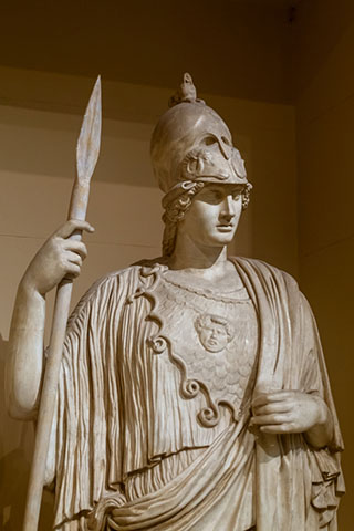 Greek statue of Athena